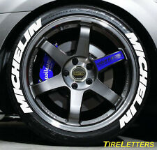 TIRE LETTERS - 1 inch  TALL - LOW PROFILE - michelin  - (SWOOSH DESIGN)