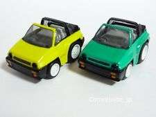 Chibikko Choro Q TAKARA HONDA CITY CABRIOLETNo.38 Yellow and Green Set  F/S
