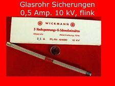 5 Hochspannungs-G-Schmelzeisätze Sicherungen flink Feinsicherungen Elektrotechni
