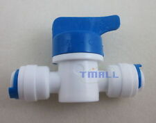 """2pcs 1/4"""" Ball Valve Shut off Quick Connect for RO Water Reverse Osmosis System"""