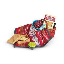 American Girl LE SAIGE PICNIC SET for Doll Blanket Picnic Basket Saige NEW
