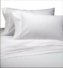 6 pc LOT 66X104 BRIGHT WHITE TWIN SIZE HOTEL FLAT SHEETS T-180 1ST QUALITY