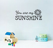 You Are My Sunshine Sun Art Wall Quote Sticker House Decal Lettering Wallpaper