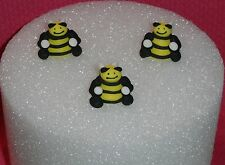 Bee, Edible Royal Icing Cupcake Topper,3-D, DecoPac, Yellow,