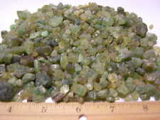 Garnet green mixed grade natural mine rough crystal Mali,Africa 1/4 pound lots