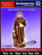 Statua di San Francesco d'Assisi con animali - in resina altezza 20 cm