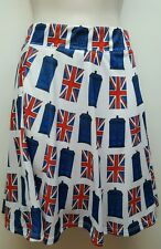Doctor Who Universe TARDIS Fit & Flare Skirt Union Jack Police Call Box cosplay