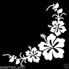 PAIR CUTE VINYL CAR TRUCK STICKER DECAL FLOWER WINDOW CORNERS LEFT AND RIGHT