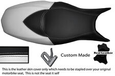 WHITE & BLACK CUSTOM FITS BMW F 800 R F 800 S F 800 ST DUAL LEATHER SEAT COVER