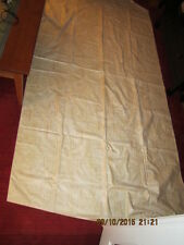 "Lot of 4 Four Antique Drapes Panels - Tan & Cream Colored - 80"" by 53"" by 112"""