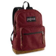 JanSport Right Pack Leather Suede Bottom Backpack Daypac VIKING RED TYP7 9FL