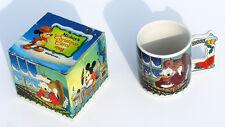 Vintage Mickey's Christmas Carol Ceramic Original Box Mug Scrooge Dickens 21613