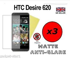 3x HQ MATTE ANTI GLARE SCREEN PROTECTOR COVER FILM GUARD FOR HTC DESIRE 620