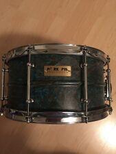 13x7 Pork Pie Patina Brass Snare Drum Like New Mint