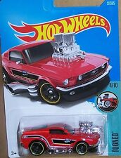 2017 HOT WHEELS TOONED ☆ '68 FORD MUSTANG ☆ CARDED ☆ #27/365