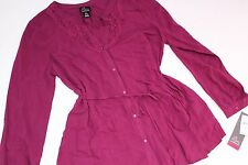 Maternity Oh Baby by Motherhood Size M Medium Women's Shirt Top NWT Berry