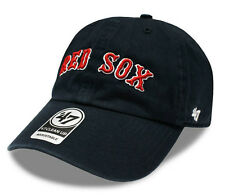 MLB '47 Brand Boston Red Sox Clean Up Curved Baseball Cap - One size - Navy