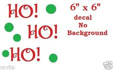 Ho Ho Ho Christmas Decal Sticker for Glass Block DIY Crafts