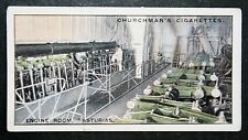 ASTURIAS   Engine Room    Harland and Wolff    1930's Vintage Card # VGC