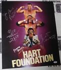 Jim Neidhart Jimmy Bret Hart Foundation Signed WWE 16x20 Photo PSA/DNA Autograph