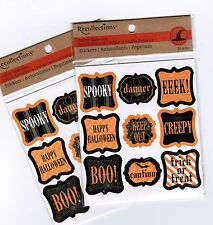 2 Packs Recollections Label Halloween Stickers! BOO Trick or Treat Spooky