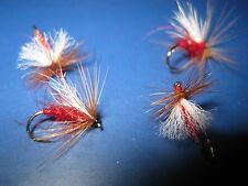 4 Vainer's Ultimate RV Super Aero Red Bob's Bits Size 12 Trout V Flies