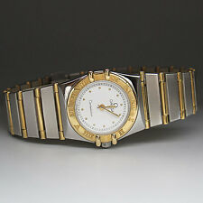 Omega Constellastion Lady Ø 23 mm Quarz Full Bar in Stahl / Gold