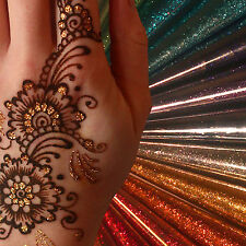 Glitter Gel tattoo Cones 12 colours for Henna Gilding / Body Art / Face Paint jx
