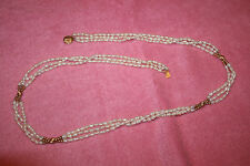 Vintage Freshwater Pearl Necklace with 14 K Gold Closure and Accent Beads