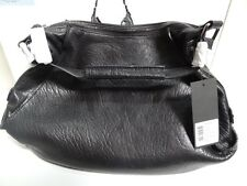 Kenneth Cole New York Bolt It Out Hobo Textured Leather Black Hand Bag HK61580LE