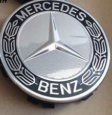 Genuine Mercedes-Benz Alloy Wheel Hub Cap/Centre Cap (Set of 4) Blue