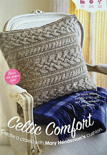 KNITTING PATTERN Celtic Cable Patterned Sofa Cushion Cover Home Jarol PATTERN