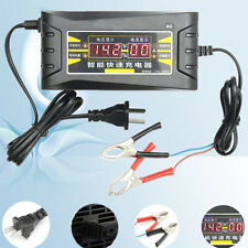 12V 6A Smart Fast 12Ah-1000Ah Battery Charger w/LCD Display For Car Motorcycle