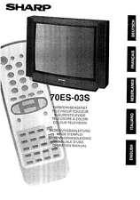 SHARP 70ES-03S manuale e diagramma schematico del TV - cartaceo come nuovo