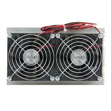 Thermoelectric Peltier Refrigeration Cooling System Kit Cooler Double Fan New