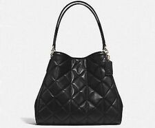 NEW Coach Phoebe Shoulder Purse Bag Quilted Black Leather 36696