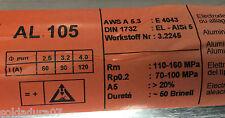 2,0 Kg Electrodos Soldar Aluminio 4043 Soldadura 2,5 x 350 mm ALSi5 - Wer 3.2245