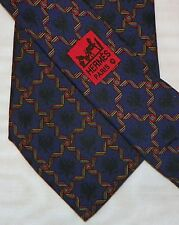 HERMES { PARIS } [ 7521 IA ] men's tie 100% Silk Made in France