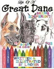 GREAT DANE COLORING BOOK #25 AUTHOR ARTIST ILLUSTRATOR BY L ROYER AUTOGRAPHED