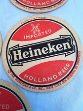 6 Vtg Heineken Coasters Holland Beer Windmill Imported W Germany free shipping