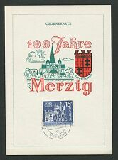SAAR MK 1957 401 MERZIG KIRCHE CHURCH MAXIMUMKARTE CARTE MAXIMUM CARD MC d4350