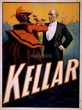 Harry Kellar Magician Satan Devil Magic Poster 19th Century 7x5 Inch Reprint