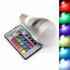 Multi-color RGB LED Bulb Mood Night Light Lamp 10W B22+Remote Controller UKstock
