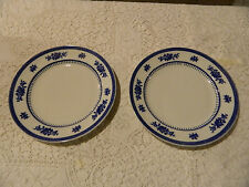 "Losol Ware Keeling & Co. China (2) Blue & White 10 1/4"" Dinner Plates"