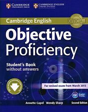 Cambridge OBJECTIVE PROFICIENCY CPE 2nd Ed Student's Book WITHOUT Answers @New@