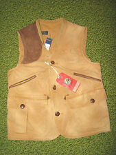 $295. Men's Tan Duck Canvas/ Leather Hunting Vest (S) POLO-RALPH LAUREN