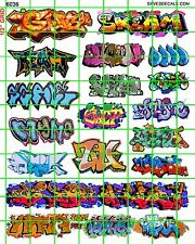 6036 DAVE'S DECAL HO SCALE DECALS URBAN GRAFFITI TRAIN BOXCARS STREET CITY WALLS