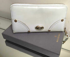 Mulberry White Patent Leather 3/4 Zip-Around Purse/Wallet, Boxed - NICE!!