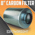 "8"" CARBON AIR FILTER SCRUBBER ODOR CONTROL INLINE Activated COAL Hydroponic can"
