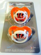 Cincinnati Bengals Baby Infant Pacifiers NEW - 2 Pack   GREAT SHOWER GIFT!
